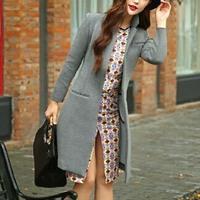 2014 Top quality  Korean style  fashion  long loose coat