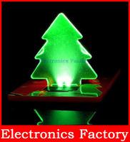 Portable Unique Design Carroteer Folding Pocket Card LED Christmas Tree Night Light Lamp Bulb XMAS GI
