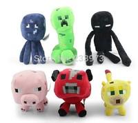 6PCS/Set Genuine JJ Doll Minecraft Dolls High Quality Minecraft Plush Toys Minecraft Creeper Toys Gift Free Shipping