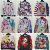 [Magic] Ladies/Skull/cartoon printed thin hoodies new western union style women's 3d sweatshirt 21 models hot sweatshirts