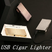 2014 100% NEW 1pcs/lot USB Electronic cigarette lighter Arc charging lighter Gifts Cigar Lighter  Free shipping