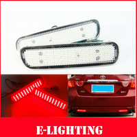 2X Clear Lens LED Rear Bumper Reflector Backup Tail Brake Light for Lexus LX470 Toyota Land Cruiser