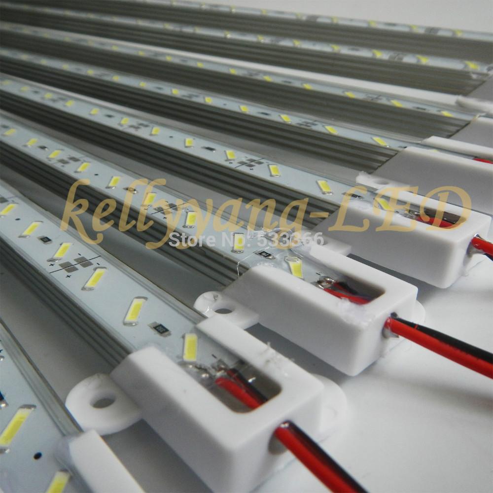 5M 10PCS 0.5M 7020 White 36 LEDS rigid Hard Light Bar IP68 Waterproof Strip DC 12V with tracking number(China (Mainland))