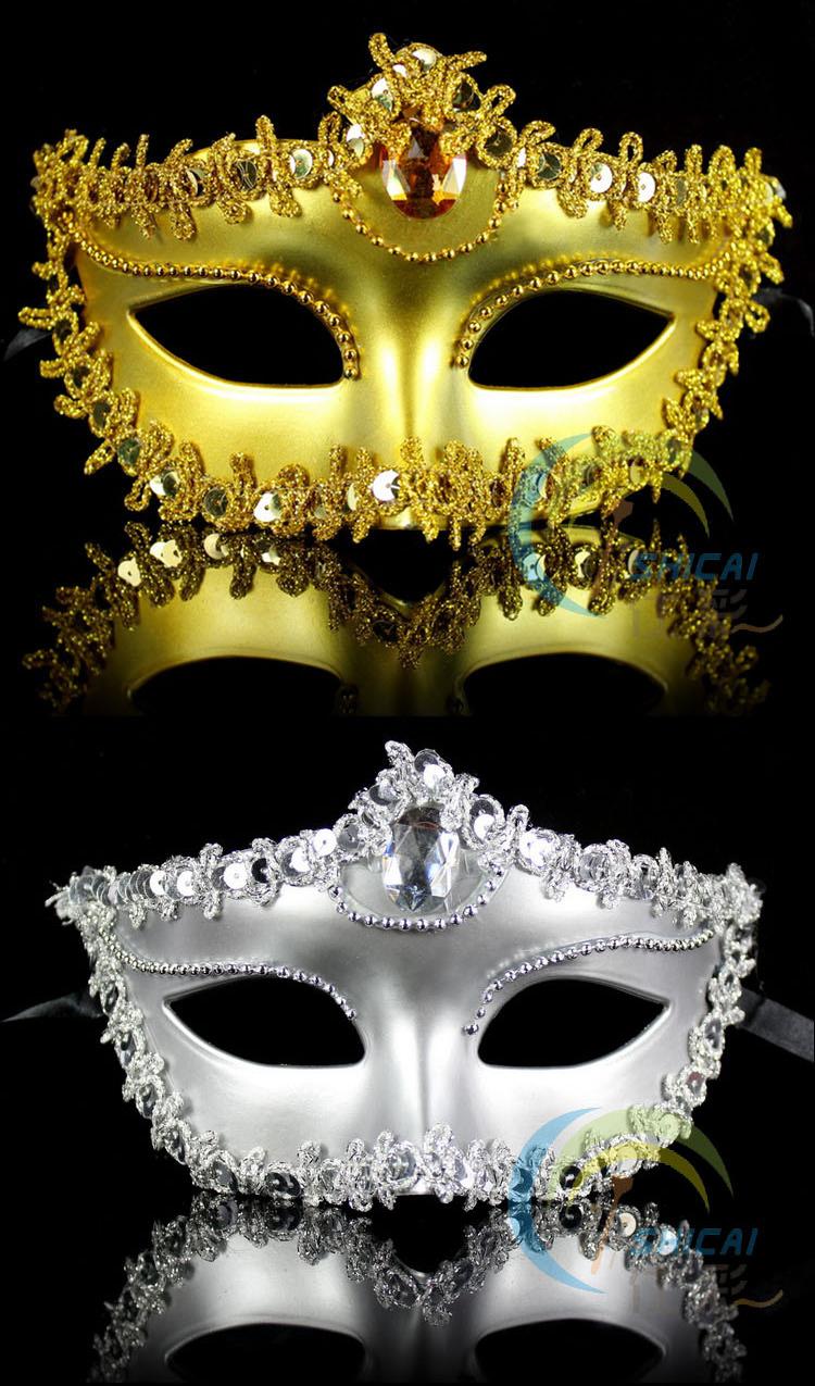 Hot adereços de carnaval Make up Dance party Halloween suprimentos máscaras venezianas máscaras de Halloween natal atacado(China (Mainland))