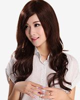 326 Wig /female hair / lifelike female fluffy oblique bangs wig big wave Volume Hair