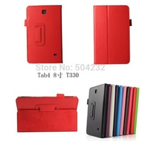 "Lichee Pattern PU Leather Case Stand Cover For Samsung Galaxy Tab4 T330 8"" tab"