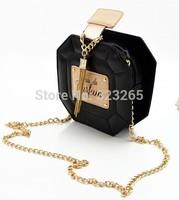 Hot selling Street beat perfume bottles chain bag, shoulder bag diagonal small, lozenge bag, clutch,