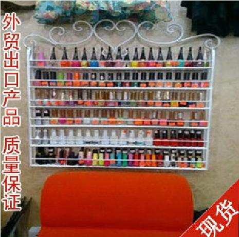 Iron nail polish rack nail oil store shelf wall shelving cosmetic cream display cabinets(China (Mainland))