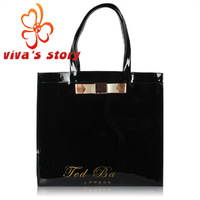 2014 New Ted shopping bag women waterproof handbags ted shoulder jelly bag vintage designer with famous brand full original logo