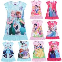 Princess girl's nightgown,cartoon princess dress,children's dresses,Children sleep dress skirt,children girls Casual dress