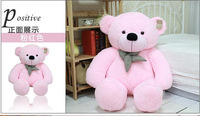Pink Teddy Bear Soft 100cm Cotton Toy Embrace Bear Doll 4colors lovers/christmas gifts birthday gift