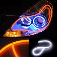 Daytime Running Lights Car LED Turn Signal Flexible Headlight Switchback Strip 60cm Angel Eye DRL Day Light LED Car DRL