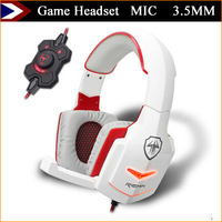 2015 Game Headphone Game Headset Earphones And Headphones With MIC Earphone 3.5MM For Computer MP3 MP4 Support Free Shipping