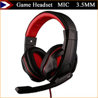 New 2015 Game Headset Earphones And Headphones With MIC Earphone Game Headphone 3.5MM For Computer MP3 MP4 With Free Shipping