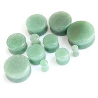 Organic Natural Polished Stone Ear Plugs Gauges Saddle Spool 24pcs/lot