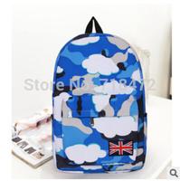 Wholesale Women's Canvas Backpack black female vintage school bags for teenagers galaxy printed mochilas bolsas sport rucksack