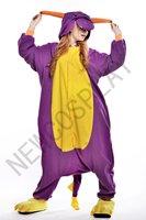 Anime Costume Purple Dinosaur Pajamas Unisex Sleepwear Cosplay dress Hoodie Adult Pyjamas HalloweenChristmas