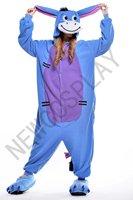 Eeyore Onesie Costume Adults Pajamas Donkey Pyjama Sleepwear Cartoon Animal Cosplay