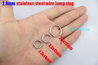 2.0x12mm/2.0x14mm/2.0x15mm/2.0x16mm/2.0x18mm/2.0x20mm jump ring stainless steel split rings accessories chains DIY parts 200pcs