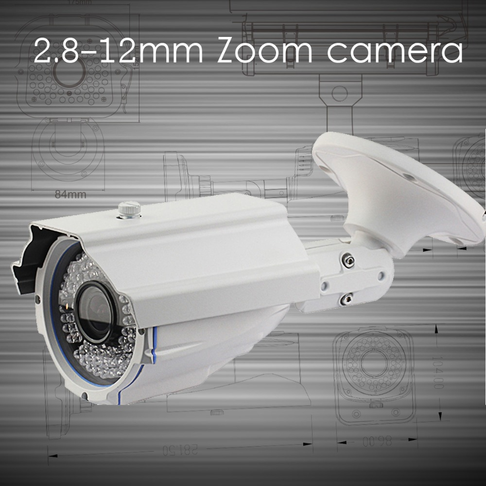 1/3 '' sharp ccd hd 700 TVL security cctv camera zoom 2.8-12mm 60 meters IR distance osd menu control light suppressed(China (Mainland))