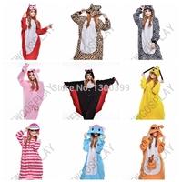 Winter Unisex Adult Pajamas Cosplay Costume Animal Fox Zebra bear Gloomy bear Anime Bat dog Cheshire Cat Elephent Kangaroo