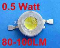Free Shipping 0.5Watt High Power LED TaiWan Chip 80-100lm 200pcs/lot