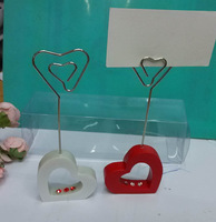 Wholesale 200pcs(100pairs)/lot Resin Heart Lovers place card holder wedding Party Decorations Favors