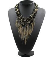 2014 NEW ZA Necklaces & Pendants chain tassel fashion necklace collar bib statement necklace choker Necklaces for women