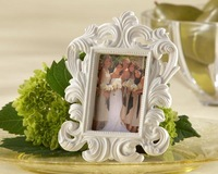 "100pcs/lot Resin ""White Baroque"" Elegant Place Card Holder/Photo Frame  Wedding Favors and Giveaways"