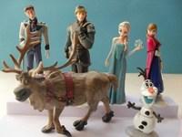Frozen Figure Play Set Frozen Princess Anna Elsa 6 figure set movie Cartoon Anime princess doll toy