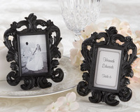 "Wholesale SG 200pcs/lot Resin ""Black Baroque"" Elegant Place Card Holder/Photo Frame  Wedding and Birthday Party Favors"