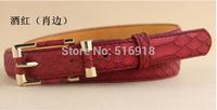 Hot new arrial fashionale buckle multicolor women belt geninue women leather belts for jeans waist chain free shipping