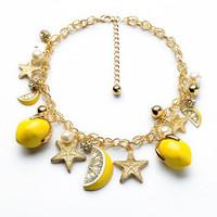 2014 cc retro gamstone jewelry accessories collar gold chain minecraft choker chunky fruit  necklace  for perfume bijoux women