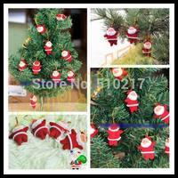 hot Christmas tree decorations red Santa Claus pendant Father Christmas hanging ornaments Xmas Kriss Kringle decorative pendant