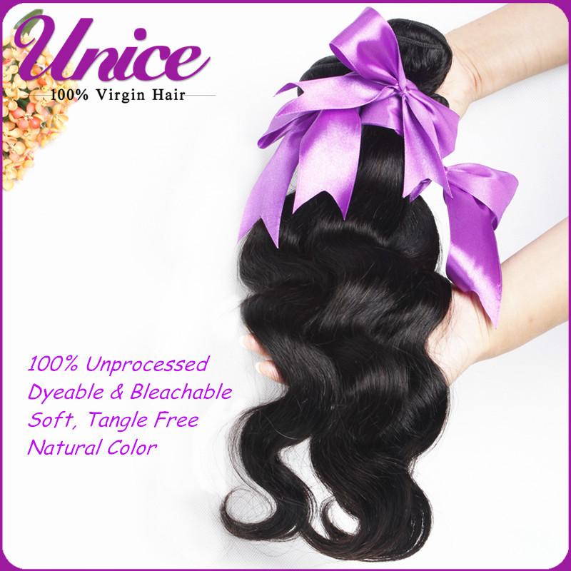 Unprocessed 6A Quality Brazilian Virgin Hair Body Wave Human Hair Extension Cheap Wholesale Brazilian Body Wave Hair Weave UN142