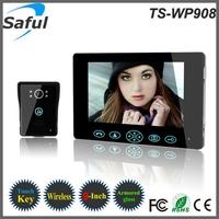 2014 newest distinctive 9 inch 2.4GHz digital apartment wireless video door phone intercom system