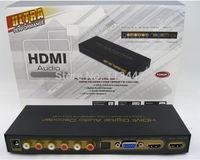 Top quality HDMI digital audio decoder HDMI TO HDMI+VGA+SPDIF+5.1CH+HP  converter up to 1080P