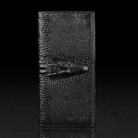 2014 NEW Retro Style genuine leather wallet men crocodile brand wallet bi-fold style