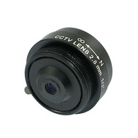 "2.8mm Fixed Iris IR Lens 1/3"" CS F1.2 CCTV Camera"
