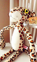 1pcs/lot New design Leopard Print 65cm Pink Panther Plush Toy for Kids Animals stuffed dolls Christmas gift Free shipping