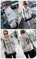Korean Women Hoodie COCO Jacket Coat Sweatshirt Outerwear Hooded Sweater S/M/L