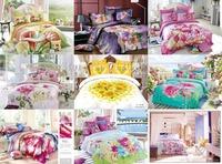 Hot Selling bed linen 3D Sweetheart Flower Floral 4pcs queen/full comforter/duvet covers bedding sets Wholesale