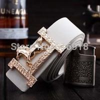 Wholesale!!!free shpping 2014 new senior desinger horse men's belt genuine leather belts automatic buckle belt for men