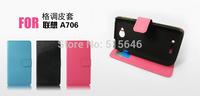 For Lenovo A706 Wallet Case,Flip Leather Back Cover Stand Case For Lenovos A706