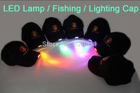 Wholesale Novelty Sprot Hat LED Lights Baseball Hat Night Jogging Fashion Cap Baseball Lamp Cap Hunting Fishing Cap 20 pcs/lot