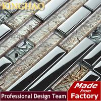 2014 Backsplash Fireplace [kinghao] Wholesale Price The Mosaic Tile Glass Sheets Wallpaper Borders Bathroom Decor Gold GML02