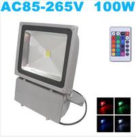 Wholesale 4PCS LED Floodlight 100W RGB led floodlight IP65 AC85-265V IP65 Cold white/warm white Free shipping