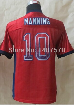 #10 Manning Jersey,Kids/Youth Football Jersey,Drift Fashion Jersey,Best quality,Authentic Jersey,Size S--XL,Accept Mix Order(China (Mainland))
