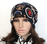 Free shipping  ghost head hat Spring summer autumn women adjustable cap turban pile cap