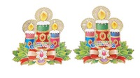 FREE SHIPPING!!!Christmas decoration, wall decoration,Christmas candle stickers,window dressing,the family decorates